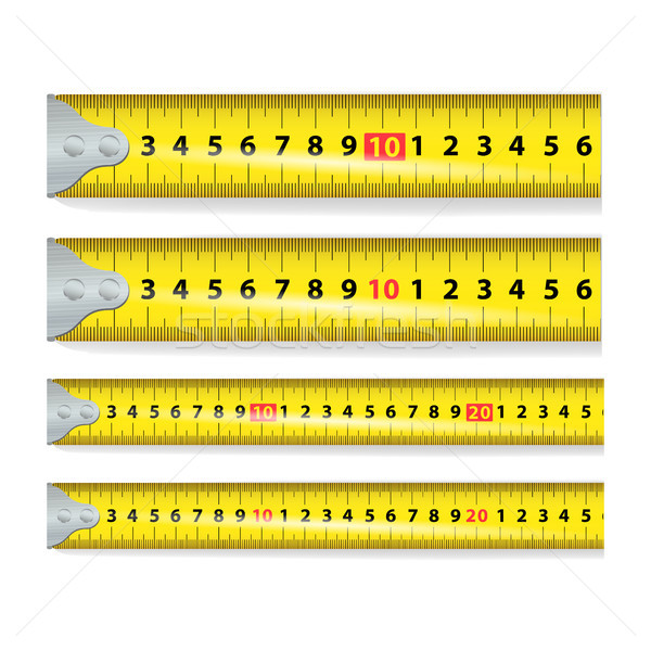 Amarelo fita métrica vetor medir ferramenta equipamento Foto stock © pikepicture