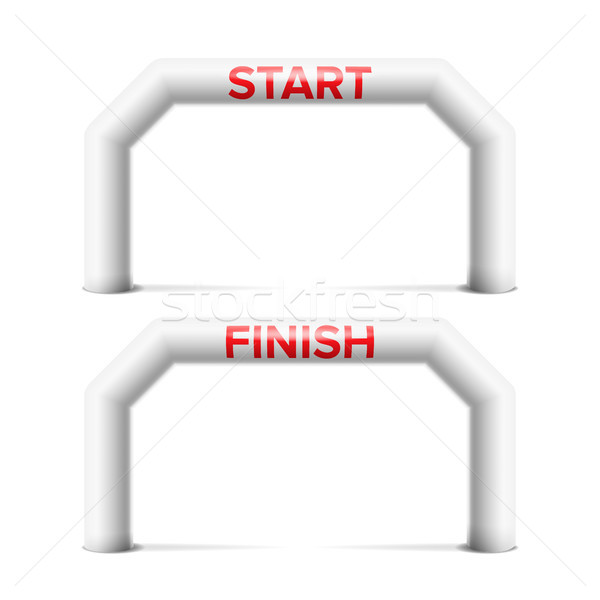 Inflatable Arch Isolated Vector. Archway, Suitable For Sport Event. Marathon Racing Concept. Isolate Stock photo © pikepicture