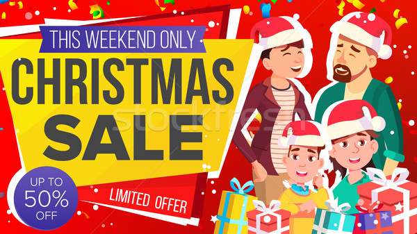 Christmas Sale Banner Vector. Big Christmas Sale Banner. Illustration Stock photo © pikepicture