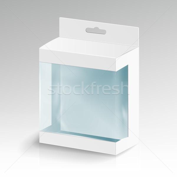 Fehér karton téglalap vektor csomag doboz Stock fotó © pikepicture