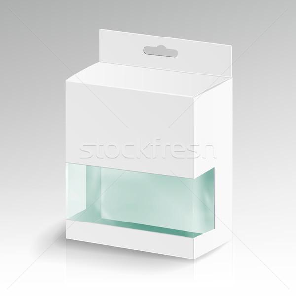 Beyaz karton dikdörtgen vektör boş kutuları Stok fotoğraf © pikepicture