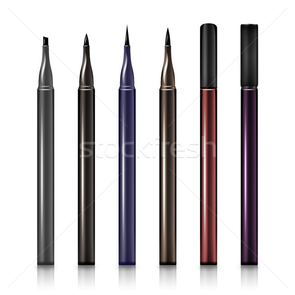 Set kosmetischen Make-up Eyeliner Bleistift Vektor Stock foto © pikepicture