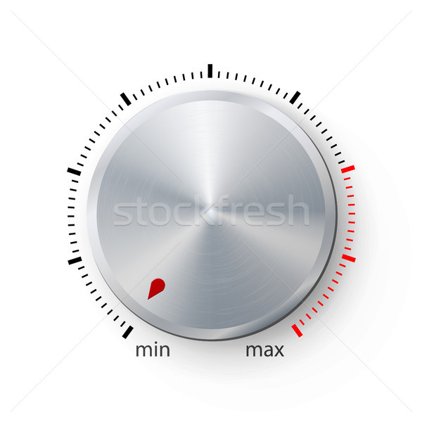 Dial Knob. Global Swatches. Realistic Plastic Button With Circular Processing. Technology Button Tem Stock photo © pikepicture