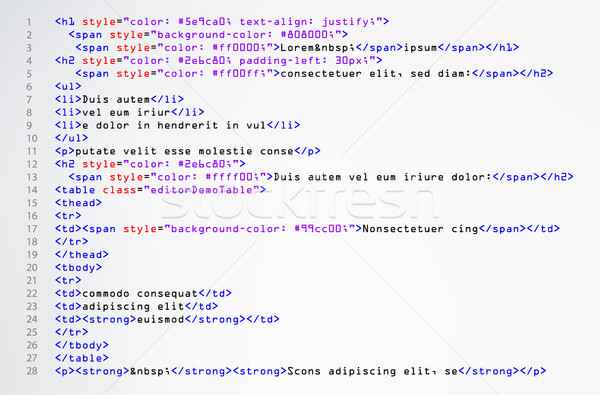 Html simple code vecteur coloré résumé Photo stock © pikepicture