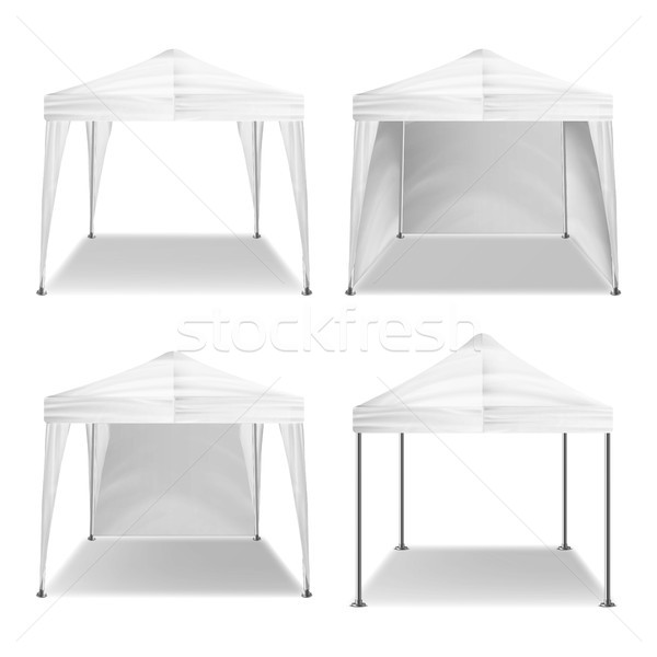 Tenda outdoor set vettore bianco Foto d'archivio © pikepicture