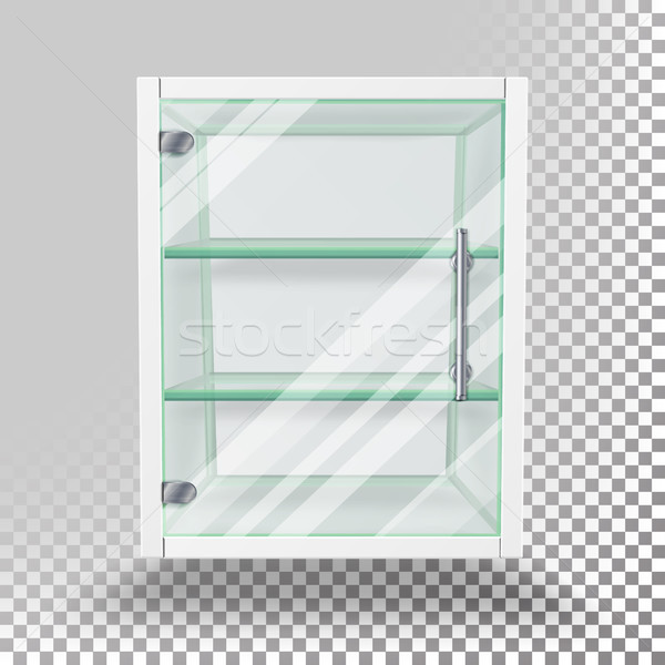 Advertising Glass Cabinet Vector Stock photo © pikepicture