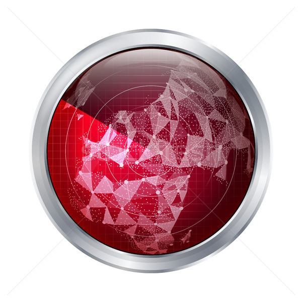 Radar Sign Vector. Europe. Abstract Radar Scan The World Map. Abstract Targets In Process. Stock photo © pikepicture