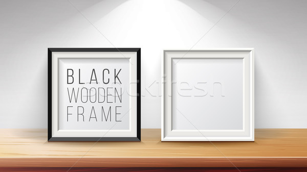Realistic Blank Picture Frame Set Vector. Good For Posters, Presentations. Modern Clean Interior Ill Stock photo © pikepicture