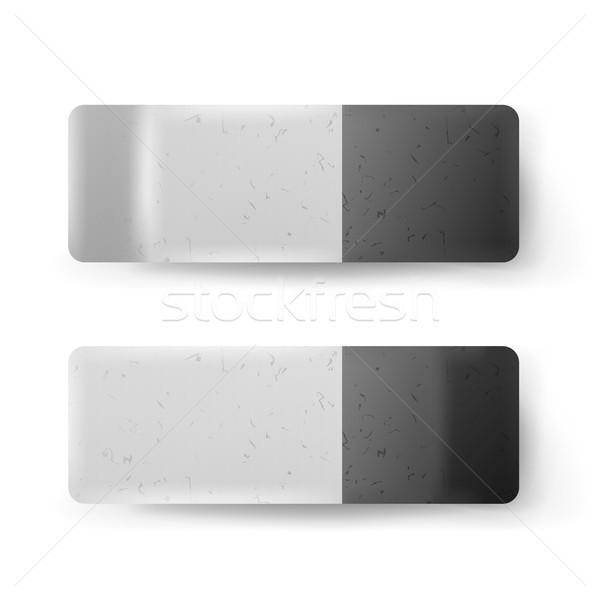 Realistico eraser isolato vettore classico grigio Foto d'archivio © pikepicture