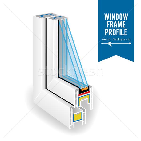 Plástico perfil energía ahorro ventana tres Foto stock © pikepicture
