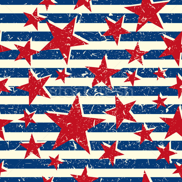 Vector Pattern 60s. Seamless Background Inspired Flag Of Cuba. Stock photo © pikepicture