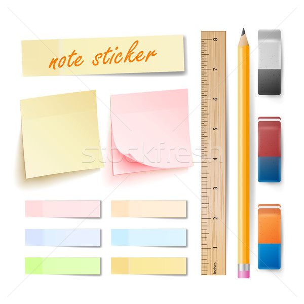 Postar nota adesivo vetor isolado conjunto Foto stock © pikepicture
