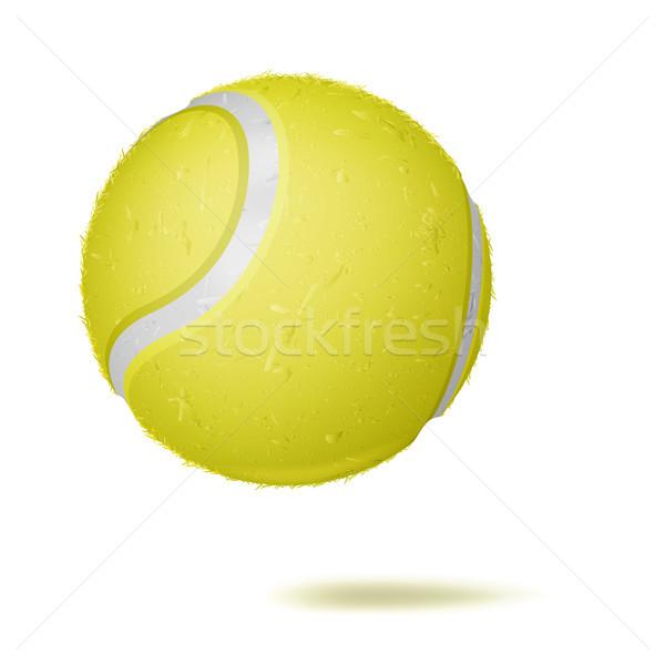 3D piłka tenisowa wektora klasyczny żółty piłka Zdjęcia stock © pikepicture