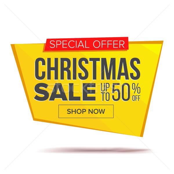 Grande Natale vendita banner vettore pubblicità Foto d'archivio © pikepicture
