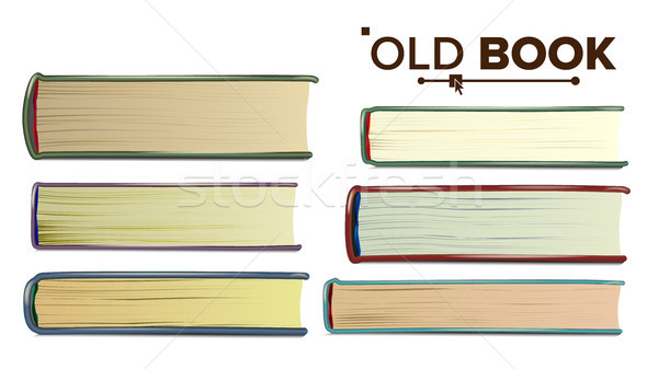 Old Book Vector. Paper Book In Cover. Isolated Realistic Illustration Stock photo © pikepicture