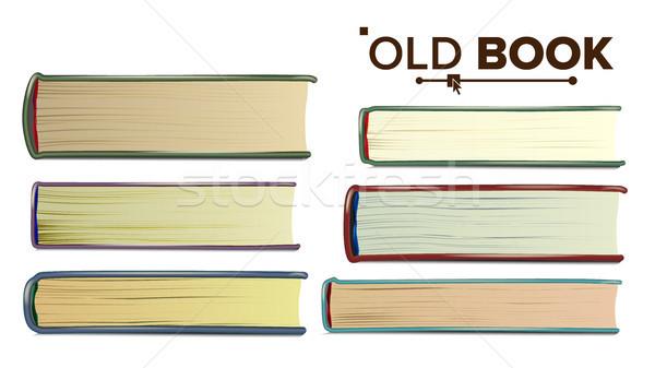 Oud boek vector papier geïsoleerd realistisch Stockfoto © pikepicture
