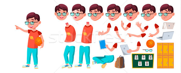 Jongen schooljongen kid vector kind Stockfoto © pikepicture