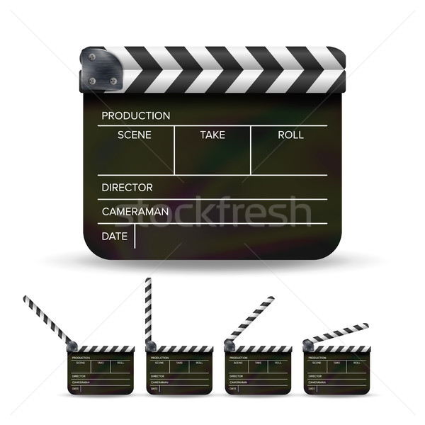 Clapper Board Vector Stock photo © pikepicture