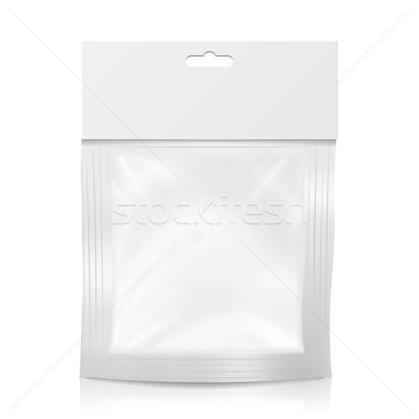 プラスチック ポケット ベクトル 現実的な アップ テンプレート ストックフォト © pikepicture