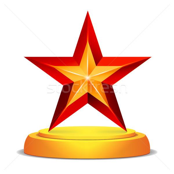 Modern star ödül parlak ganimet meydan okumak Stok fotoğraf © pikepicture