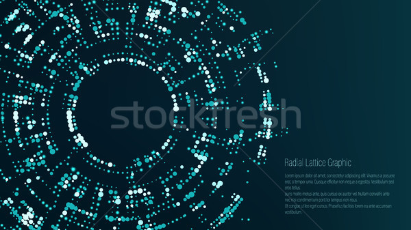 Radial Lattice Graphic Design. Abstract Vector Background. Funnel, Black Hole. Stock photo © pikepicture