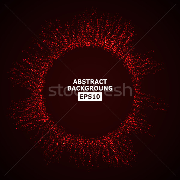 Vector Splash Of Glowing Particles. Futuristic Cyber Backdrop.  Illustration. Stock photo © pikepicture