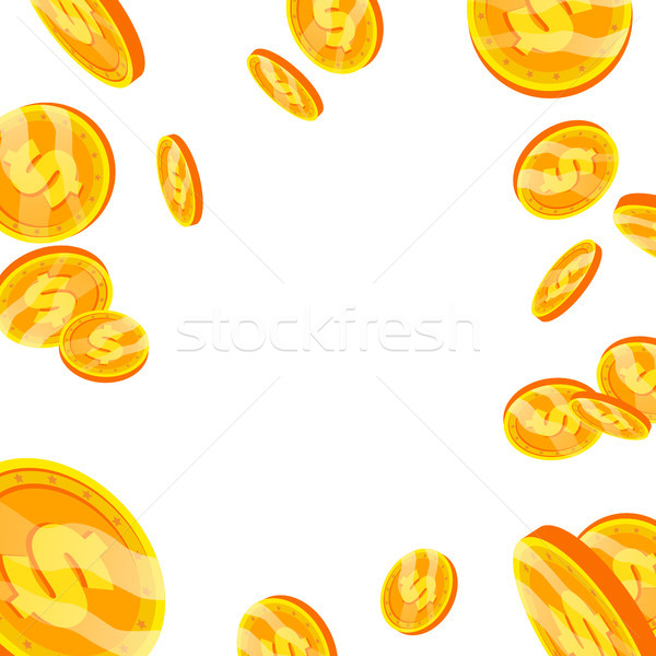 Dollar vallen explosie vector cartoon gouden munten Stockfoto © pikepicture
