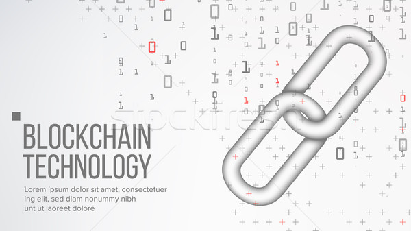 Blockchain Vector. Finance Business Concept. Peer Network. Development Software Platform. Commerce B Stock photo © pikepicture