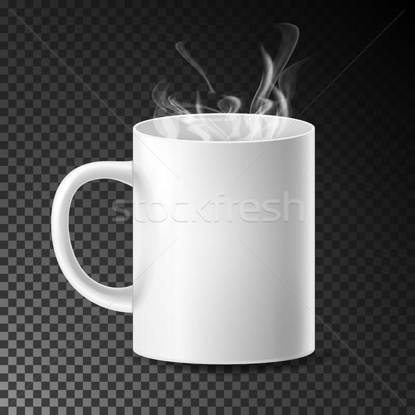 白 カップ マグ ベクトル 現実的な セラミック ストックフォト © pikepicture