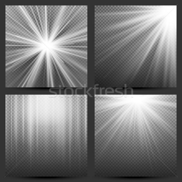 свет луч Лучи вектора набор эффект Сток-фото © pikepicture
