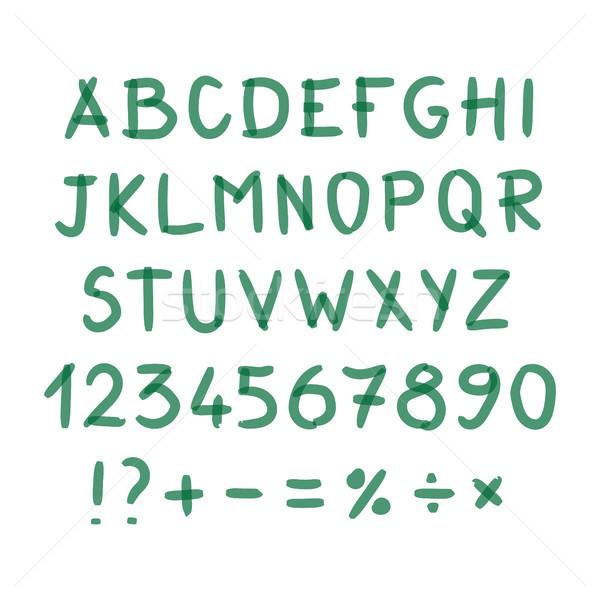 ストックフォト: マーカー · 手 · 書かれた · いたずら書き · シンボル · ベクトル