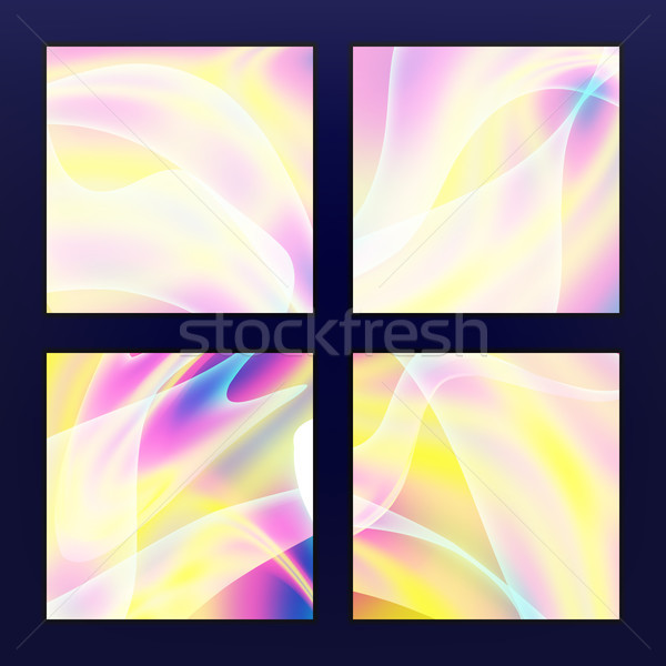 Fluid Iridescent Multicolored Vector Stock photo © pikepicture