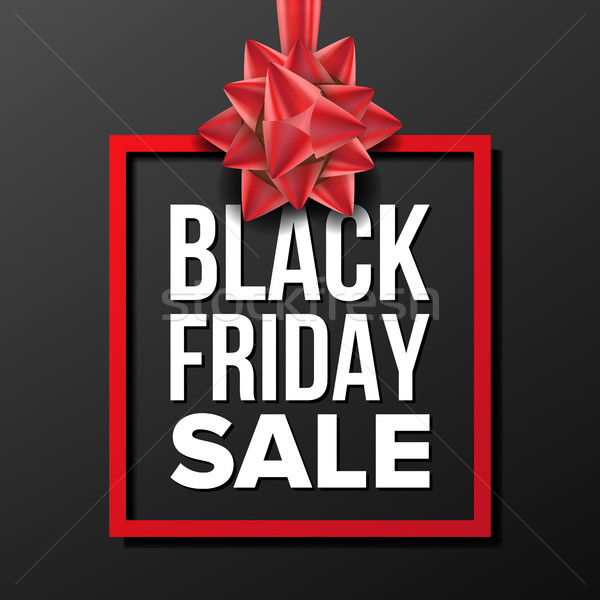 Black Friday Sale Banner Vector. Vector. Business Advertising Illustration. Design For Web, Flyer, B Stock photo © pikepicture
