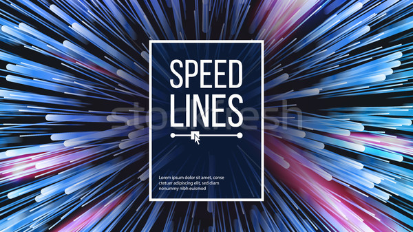 Speed Lines Vector. Explosion Effect. Space Background. Glowing Rays Composition. Illustration Stock photo © pikepicture