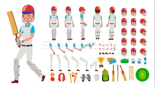 Kriket oyuncu erkek vektör spor adam Stok fotoğraf © pikepicture