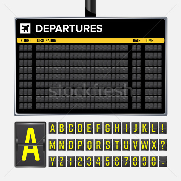 Airport Board Vector Stock photo © pikepicture