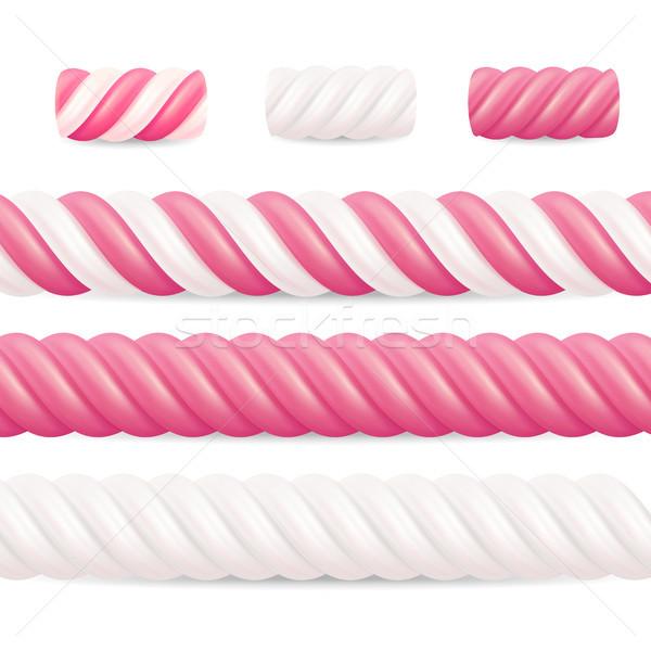 現実的な マシュマロ キャンディ ベクトル セット カラフル ストックフォト © pikepicture