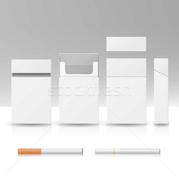Pack paquet boîte cigarettes 3D vecteur Photo stock © pikepicture