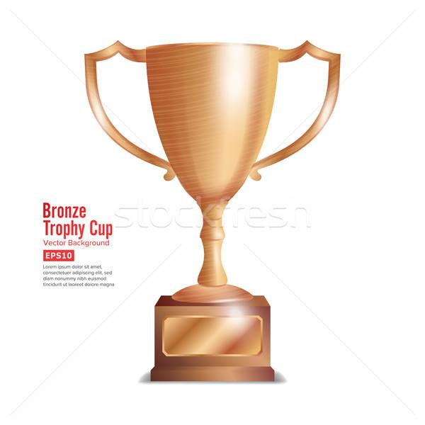 Bronzen trofee beker winnaar gunning ontwerp Stockfoto © pikepicture