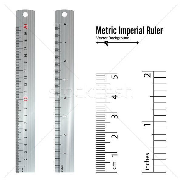 Metriek vector centimeter inch maatregel tools Stockfoto © pikepicture