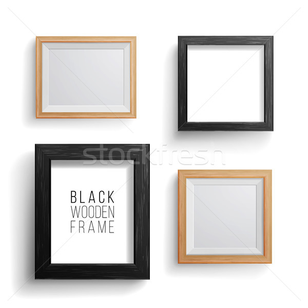 Realistic Photo Frame Vector Set. Collection Of Empty Blank. Realistic Picture Frame On The White Wa Stock photo © pikepicture
