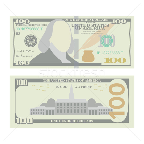 100 Dollars Banknote Vector. Cartoon Stock photo © pikepicture