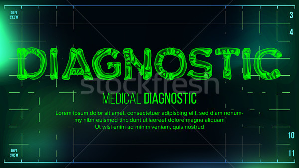 Diagnostic Banner Vector. Medical Background. Transparent Roentgen X-Ray Text With Bones. Radiology  Stock photo © pikepicture