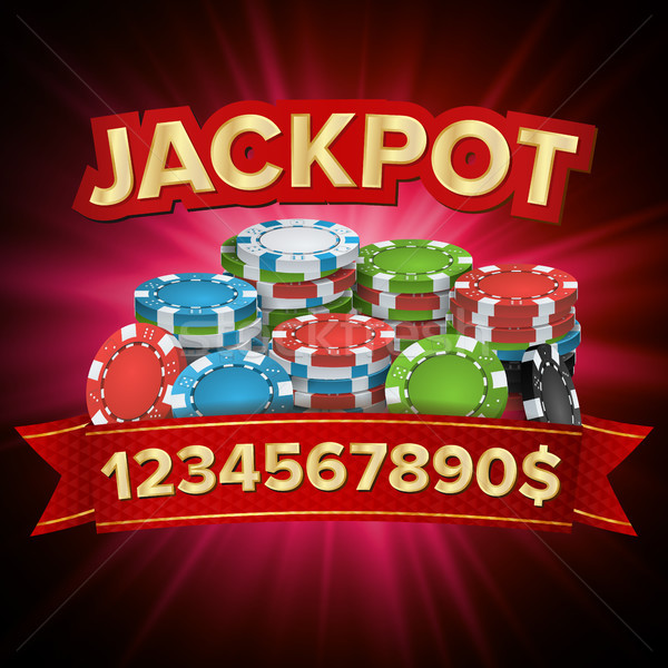 Jackpot Big Win Bright Casino Banner Vector. For Online Casino, Card Games, Poker, Roulette. Stock photo © pikepicture