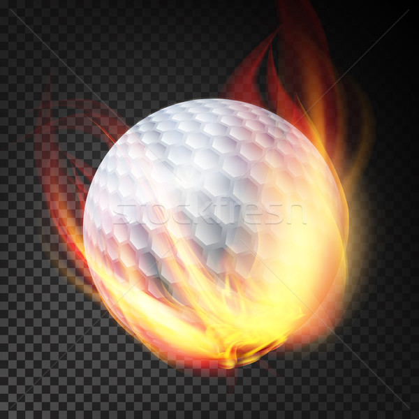 Golf Ball On Fire. Burning Style Stock photo © pikepicture