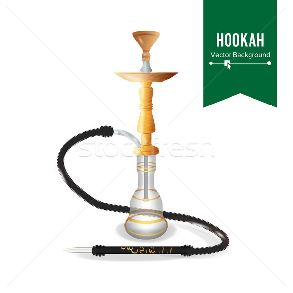 Hookah Vector. Water Flask, Cup For Tobacco Stock photo © pikepicture