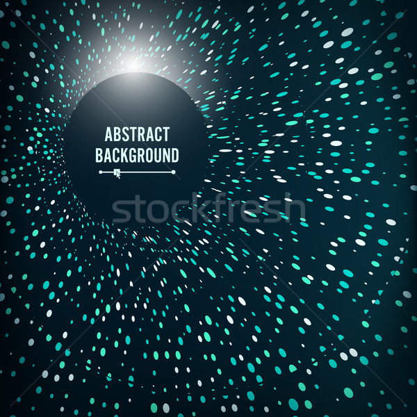 Radial Lattice Graphic Design. Abstract Vector Background. Round Point Particles. Tunnel, Funnel, Bl Stock photo © pikepicture