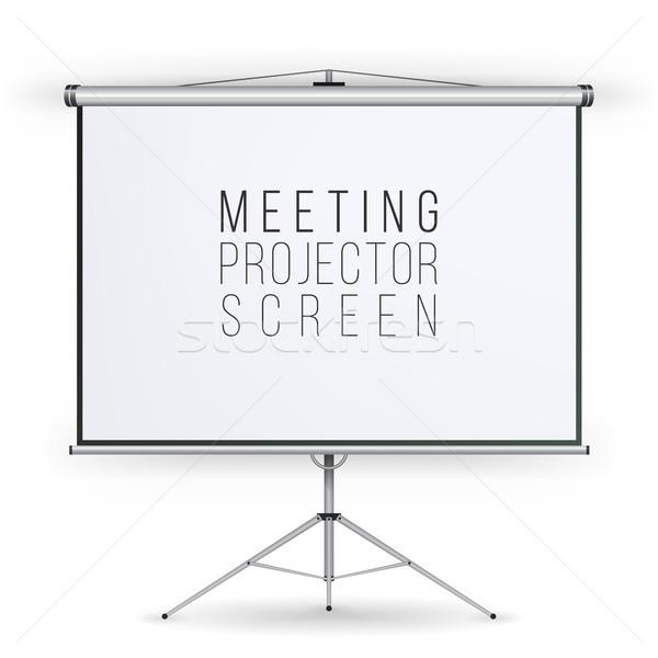 Vergadering projector scherm vector presentatie Stockfoto © pikepicture