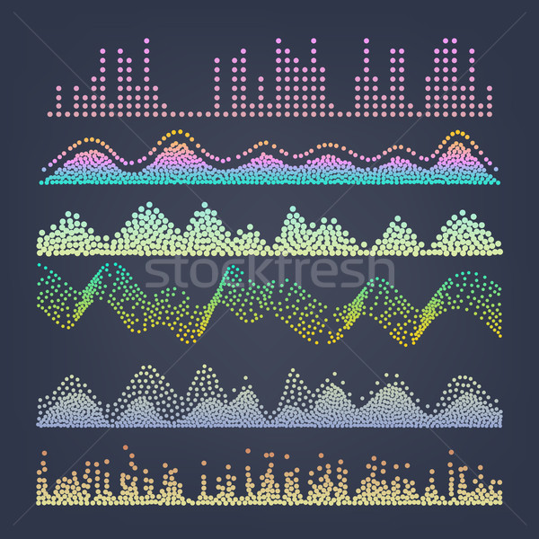 Music Sound Waves Vector. Pulse Abstract. Digital Frequency Track Equalizer Illustration Stock photo © pikepicture