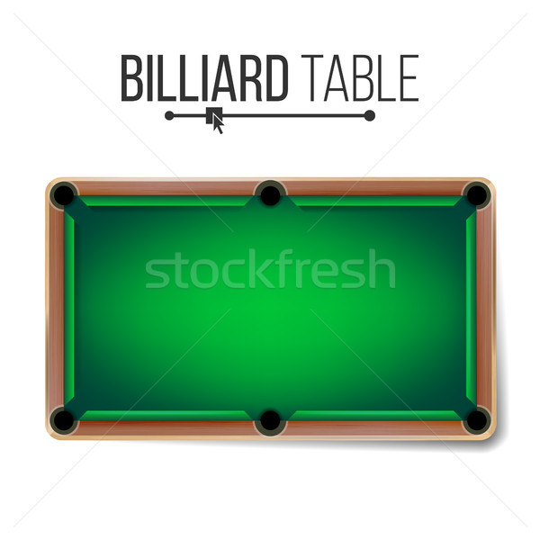 Realistic Billiard Table Vector. American Pool Table. Sport Theme. Top View. Isolated On White Illus Stock photo © pikepicture